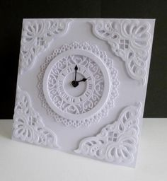 Get me to the Church on time!  With Tattered Lace's new clock die - made round to fit my design