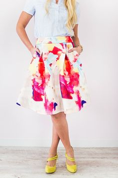 Party Frock: Gorgeous Midi Skirts for Spring - BirdsParty.com