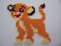 Hama/Perler/Melty Beads - Simba *