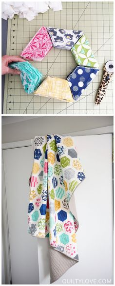 jellyroll quilts Im super excited to introduce this new quilt pattern! A fun jelly roll friendly Hexie Quilt. Hexagons are super popular right now in quilts and this is a fun twist to Jelly Roll Quilt Patterns, Baby Quilt Patterns, Modern Quilt Patterns, Quilting Patterns, Fat Quarter Quilt Patterns, Simple Quilt Pattern, Twin Quilt Pattern, Hexagon Quilt Pattern, Owl Patterns