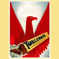 Adler 1932 kreiert der italienische Plakatkünstler Leonetto Capiello das Plakat mit der geöffneten TOBLERONE und dem roten Adler, dessen Flügel weit geöffnet sind. Welche Assoziationen wecken bei Ihnen die stilisierten Federn des Adlers?