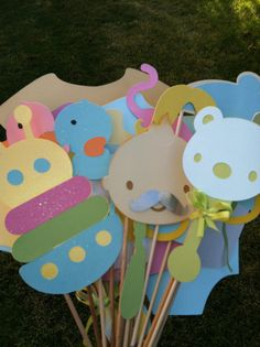 Photo booth props  unisex baby shower by flutterbugfrenzy on Etsy, $35.75
