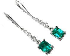 Emerald dangle earrings online