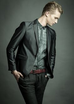 Like the shirt. ditch the blazer. Jan for The View Mag #9 (Germany) by Carlos Rodrigues, via Behance.