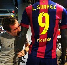 Luis Suarez already has his name on a FC Barcelona jersey
