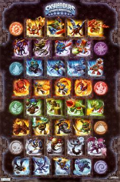 The Trends International Skylanders - Grid Wall Poster is a great way to know if your kid has got them all.