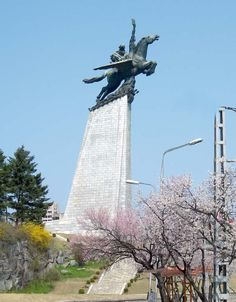 The 150-foot-tall Chollima statue on Mansu Hill