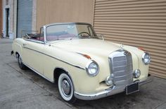 # 18260 This 1959 Mercedes-Benz 220S Ponton Cabriolet Convertible . It is equipped with a 4 Speed Manual transmission. The vehicle is Tan with a Not Specified interior. It is offered As-Is, not covered by a warranty. - 1959 Mercedes 220S Ponton Cabriolet. Could use minor cosmetics. Mechanically sound. For only $62,500. - AM-FM - Contact Internet Sales at 718-545-0500 or gullwingny@aol.com for more information. - -