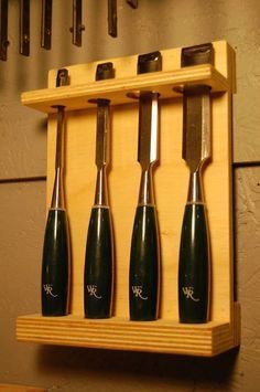 The Chisel Storage Rack #woodworkingtips