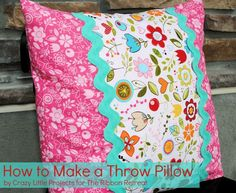 Learn how to make easy Throw Pillows! So simple and they brighten any room.