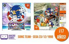 """23/12/1998. Takashi Iizuka, producido por Yuji Naka, desarolló junto al Sonic Team uno de los primeros juegos realmente """"distintos"""" del erizo. Un juego querido y odiado por partes iguales, pero sin dudas uno de esos juegos que hay que tener si eres fan del emblema de Sega."""