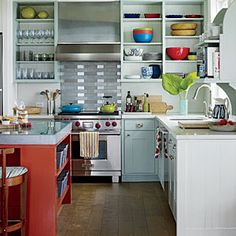 Dreamy Massachusetts Cottage | Colorful Kitchen | CoastalLiving.com/ My dream kitchen, for sure!!!! oxo