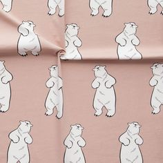 TALVINALLE, puuteriroosa | New NOSH fabric collection for Winter 2016! Get inspired from polar bears and pastel colors. Shop this new fabric collection at en.nosh.fi