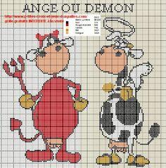 vache - cow - point de croix - cross stitch - Blog : http://broderiemimie44.canalblog.com/