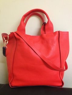 Soft leather, colour block bag from Gap