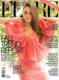 mila1 Mila Kunis in Lanvin for FLAREs August 2011 Cover