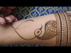SIMPLE MANDALA HENNA DESIGN WITH LEAVES by Henna CKG - YouTube