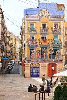 Mural on house, Tarragona,Catalonia, Spain