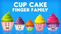 The Finger Family Cupcakes Family Nursery Rhyme   Cupcakes Finger Family Song Collection