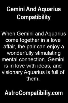 Aquarius woman and gemini man hookup
