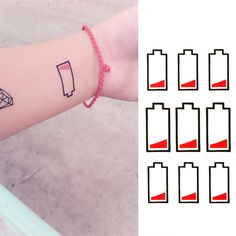2016 New Water Transfer Battery Temporary Tattoo Sticker Body Art Sexy Product