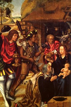 Adoração dos Reis.  Vasco Fernandes, Francisco Henriques Entre 1501 e 1506