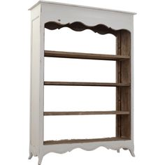 Highlight books, cherished mementos, and more with this 4-tier teak wood bookcase. Featuring a scalloped silhouette and petite flaring feet, this elegant des...
