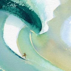 Love this watercolour by the father of surf media, John Severson.