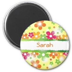 """Sold this """"Flower Power fridge magnet"""" to a customer from CA! Thanks! #floral #flowerpower #magnet"""