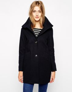 Chera wool coat with funnel neck- Navy / XS £129.00  10/02/2015
