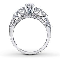 Diamond Ring Setting 7/8 ct tw Round-cut 14K White Gold