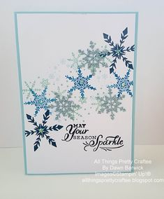 Homemade Christmas Cards, Stampin Up Christmas, Christmas In July, Homemade Cards, Christmas Crafts, Merry Christmas, Stampin Up Weihnachten, Stampin Up Karten, Snowflake Cards