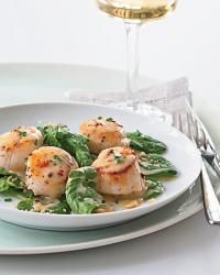 Seared Scallops with Pinot Gris Butter Sauce Recipe - Hugh Acheson | Food & Wine