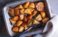 Speedy roast potatoes