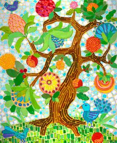 Native Americans believe that when you die, you are greeted on the other side at the Tree of Life, a tree that has every flower and every color...this idea has become very important for me.