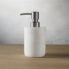 Carve out a neat spot in the bath. Honed smooth, marble bath accessories rock a spa vibe in soft white with naturally occurring swirls of grey. marble bath accessories is a exclusive. Marble Desk, Marble Tray, Marble Bathroom Accessories, Bath Accessories, Led Shower Head, Shower Heads, Lavatory Design, Soap Pump, Towel Storage