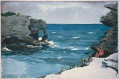 Winslow Homer - Rocky Shore, Bermuda -