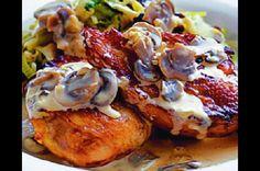 Bažant s krémovou houbovou omáčkou Baked Potato, French Toast, Potatoes, Chicken, Meat, Breakfast, Ethnic Recipes, Game, Google