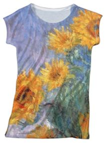 The Met Store - Monet Sunflowers Slim Fit Top