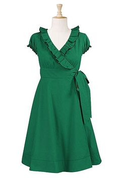 Just bought this...LOVE!!  Ruffle neck wrap dress
