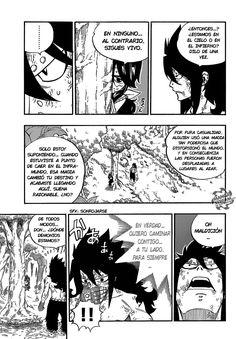 Zera le dice a Gajeel que no esta muerto y le explica el por qué - Fairy Tail Manga 491