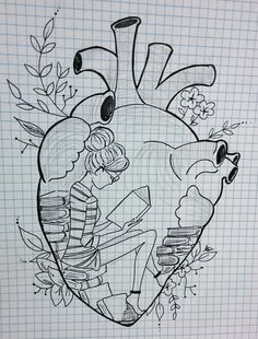 Head in books. Hipster Drawings, Music Drawings, Dark Art Drawings, Art Drawings Sketches Simple, Doodle Drawings, Colorful Drawings, Doodle Art, Easy Drawings, Abstract Pencil Drawings
