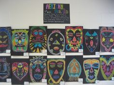 african mask drawings