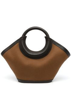 Canvas, Black Leather, Tote Bag, Brown, Pocket, Top, Design, Style, Products
