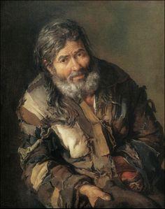 Pitocchetto (Giacomo Ceruti) · Autoritratto come mendicante · 1737 ·  Kunstmuseum · Göteborg