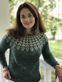 Ravelry: Fern & Feather pattern by Jennifer Steingass Feather Pattern, Got 1, Ferns, Pullover Sweaters, Ravelry, Free Pattern, Turtle Neck, Knitting, Stuff To Buy