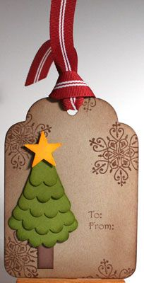 August 14, 2012  Winter post flashback Winter-post-3. Christmas tree with scallop die cut
