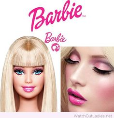 Barbie Make-up Kollektion bei Sephora, Barbie Make-up, Barbie Party, Barbie World, Make Up Barbie, Doll Makeup, Costume Makeup, Hair Makeup, Sephora, Barbie Halloween Costume