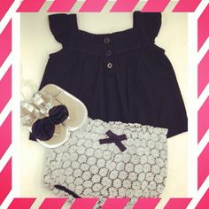 How cute is this outfit for baby girls?! - Old navy