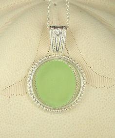 ON SALE Sea Foam Sea Glass Pendant Necklace by BoardwalkBaubles, $22.40